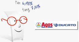 Promozione Duttilio Agos Ducato: TAN 6,98% per prestito di 12.000€ chiesto online
