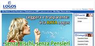 Logos Finanziaria: istantanea dalla Home Page del sito Internet