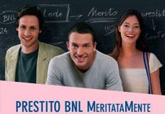Prestiti personali BNL MeritataMente