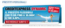 Offerta CreditExpress Dynamic UniCredit in promozione