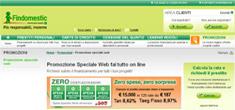Findomestic Banca: instantanea della promozione Web di Aprile 2011