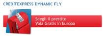 Istantanea dalla pagina dell'Offerta promozionale CreditExpress Dynamic Fly UniCredit