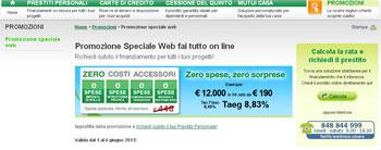 Findomestic Banca: offerta su prestiti e finanziamenti di Agosto 2011