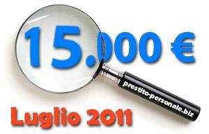 Confronto offerte prestiti di 15.000 euro a Luglio 2011