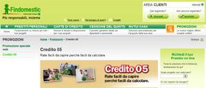 Findomestic Banca SpA: promozione Credito 05