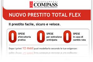 Nuovo Compass Total Flex: offerta in promozione Web