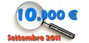 Confronto tra prestiti di 10000 euro a Settembre 2011