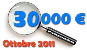 Confronto prestiti 30.000€ di Ottobre 2011