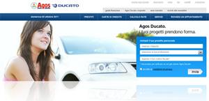 Agos Ducato Web: istantanea dell'Home Page