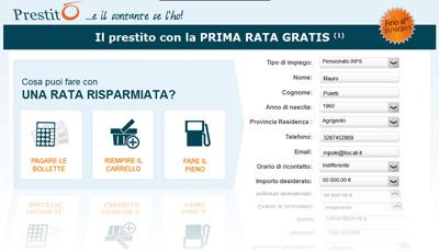 Prestiti online Conafi Prestitò: promozione con prima rata gratis