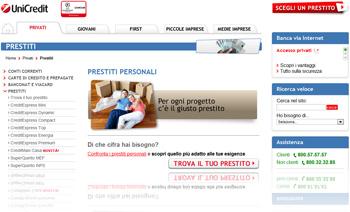 Prestiti personali CreditExpress di UniCredit SpA