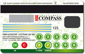 Retro di Carta Viva Web di Compass: display e micro-tastiera