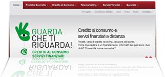 """Progetto """"Guarda che ti riguarda!"""": istantanea dal sito sul credito al consumo"""