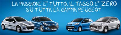 Finanziamenti Peugeot Finance: promozione tasso zero