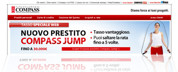 Nuovo  prestito Compass Jump: pagina Internet della promozione