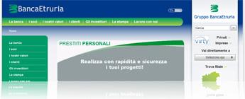 Prestiti Personali Banca Etruria: direttamente dalla pagina Internet della banca