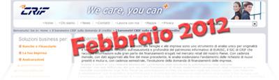 Barometro CRIF sui prestiti di Febbraio 2012