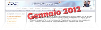 Barometro CRIF sui prestiti di Gennaio 2012