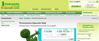 Promozione Speciale Web FIndomestic Banca di Marzo 2012