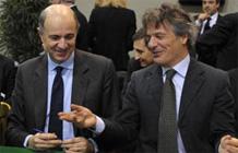 Mussari (Presidente Abi) e Passera (Ministro per lo Sviluppo Economico)