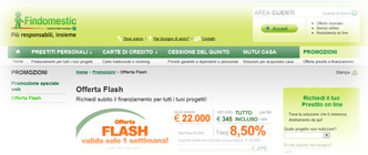 Prestiti Findomestic: dalla pagina Internet dell'Offerta Flash Speciale Web 1-8 Marzo 2012