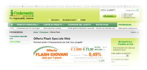 Prestiti Findomestic in Offerta Flash Speciale Giovani: promozione dal 9 al 15 Marzo 2012