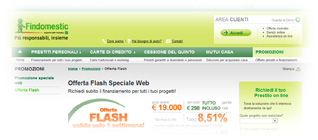 Prestiti Findomestic Banca: offerta FLASH Speciale Web dal 19 al 26 Marzo 2012