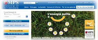Prestito Tuttofare NATURA di Consum.it: pagina Internet del finanziamento