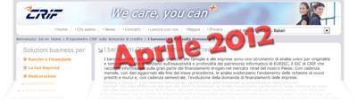 Dati del Barometro CRIF di Aprile 2012