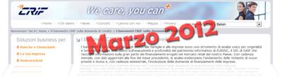 Barometro CRIF: dati sulla domanda di prestiti di Marzo 2012