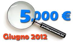 Prestito 5.000 € a Giugno 2012: confronto preventivi