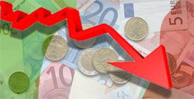 Calo di prestiti e consumi in Italia