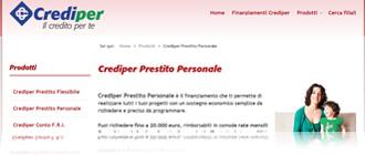 Crediper Prestito Personale di BCC CreditoConsumo