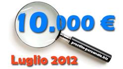 Prestito 10.000 €: confronto preventivi Luglio 2012