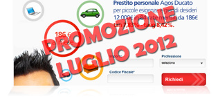 Prestiti Agos Ducato in promozione a Luglio 2012