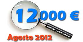 Prestito 12.000 € ad Agosto 2012: preventivi a confronto