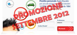 Prestiti Agos Ducato in promozione a Settembre 2012