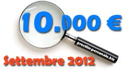 Prestito 10.000 euro a Settembre 2012: preventivi a confronto