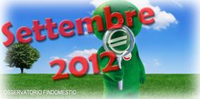 Osservatorio Findomestic: dati di Settembre 2012