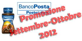 Prestito BancoPosta in Promozione a Settembre-Ottobre 2012