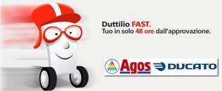 Duttilio FAST di Agos Ducato: prestito rapido in offerta on-line