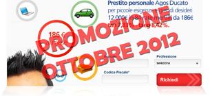 Prestiti Agos Ducato in promozione a Ottobre 2012