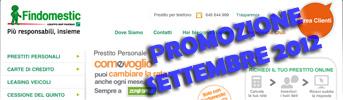 Promozione Prestiti Findomestic Come Voglio in Offerta a Settembre 2012