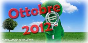 Osservatorio Findomestic: dati di Ottobre 2012