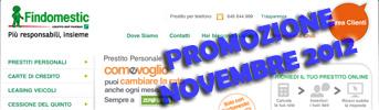 Promozione prestiti Findomestic Come Voglio in offerta a Novembre 2012