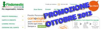 Promozione prestiti personali Findomestic Come Voglio in offerta ad Ottobre 2012