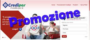 Crediper Prestito Flessibile in Promozione con prima rata nel 2013