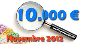 Confronto preventivi migliori prestiti da 10.000 euro a Novembre 2012
