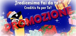 Prestiti Creditis: promozione Mysura Tredicesima