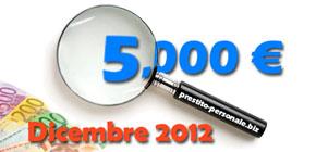 Confronto preventivi migliori prestiti da 5.000 euro a Dicembre 2012